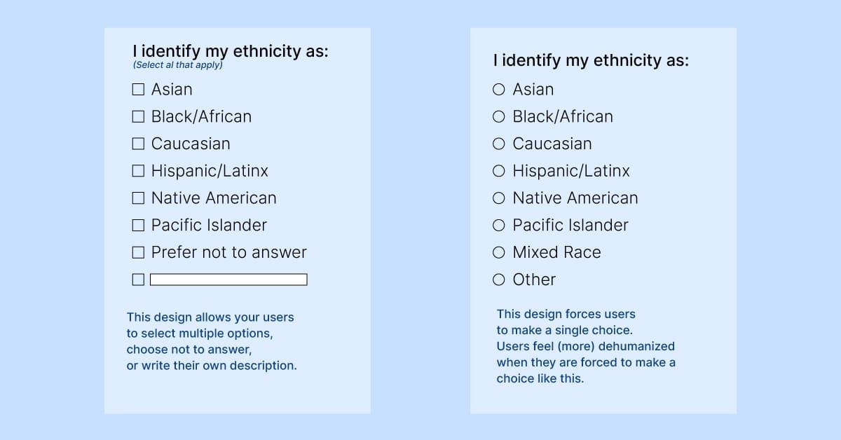 ethnicity survey example
