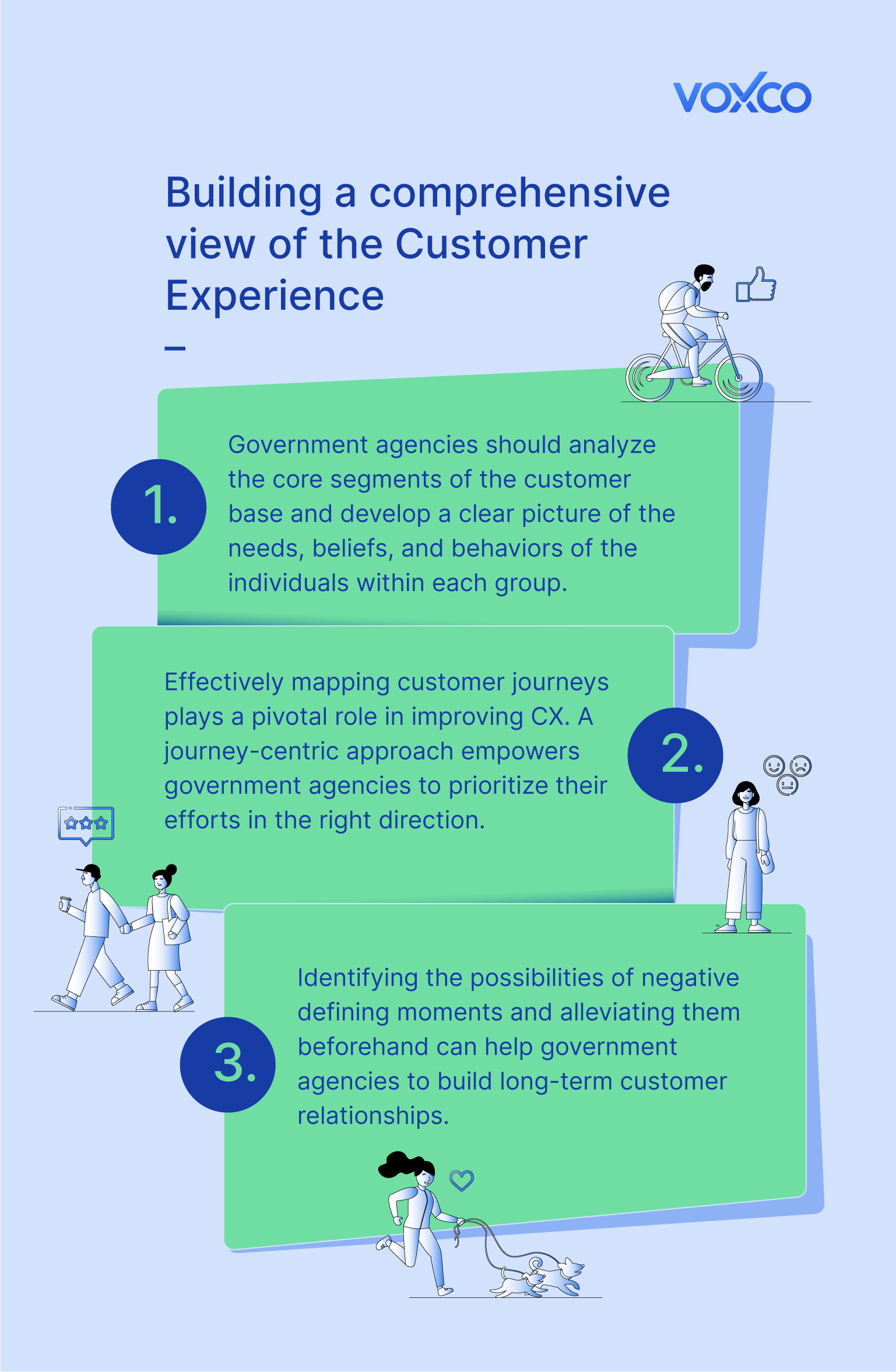 CX in Government surveys infographic
