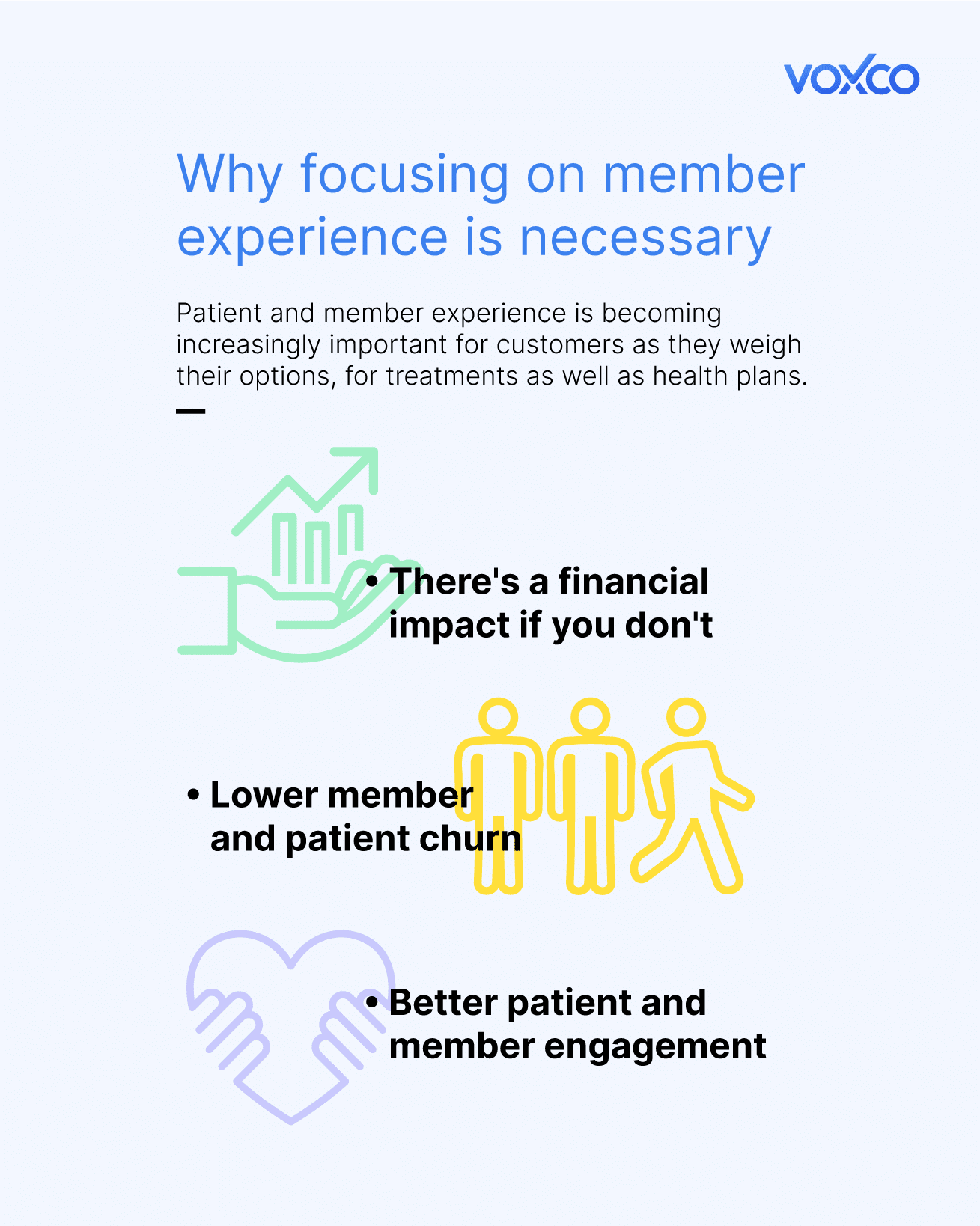 Inforgraphic on why one should focus on member experience