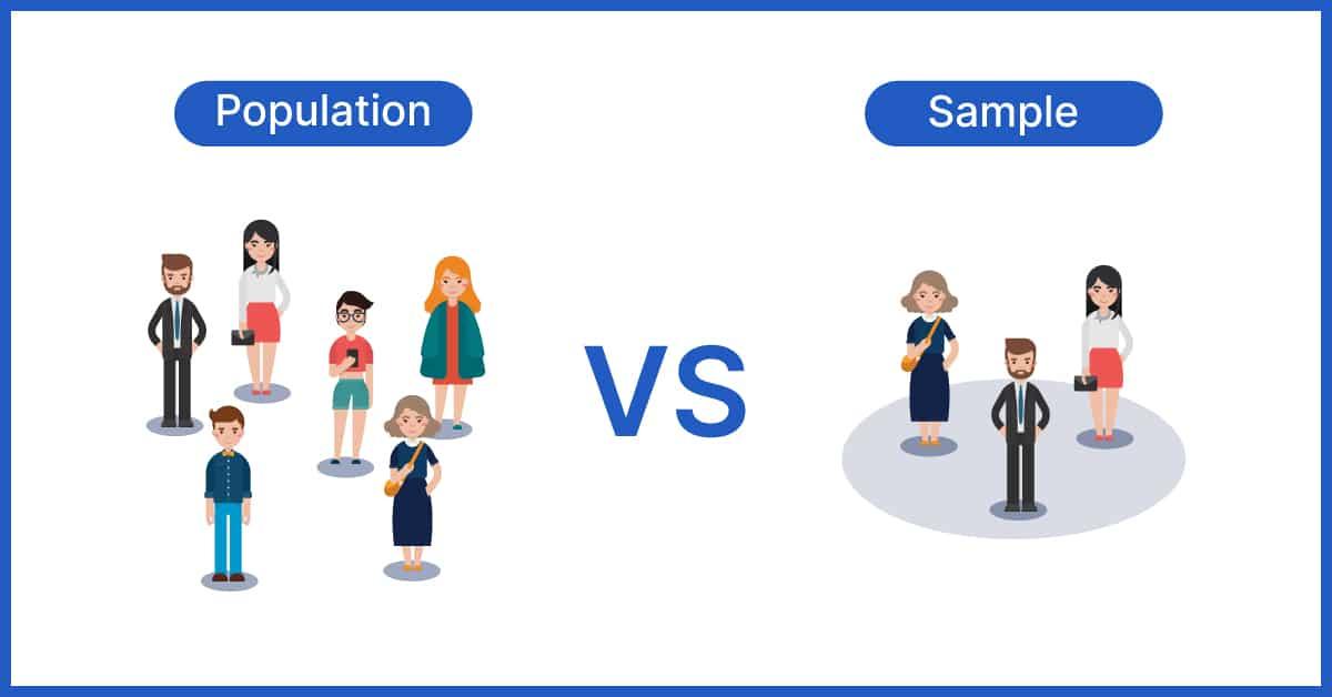 Population vs Sample population vs sample