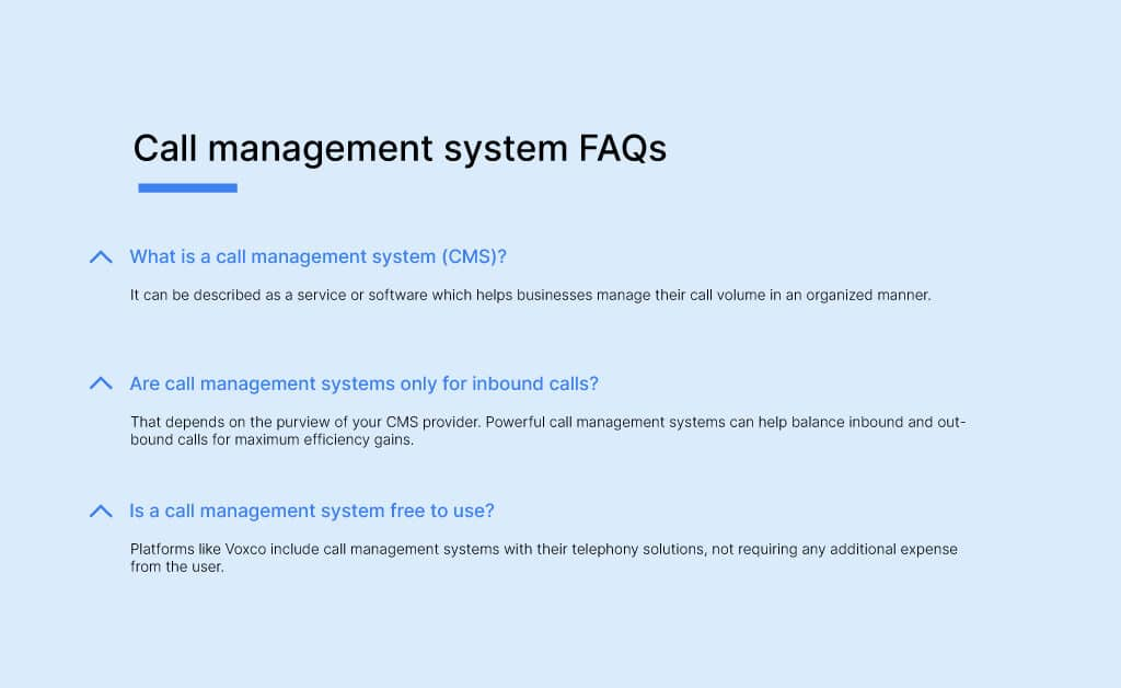 Call management system FAQs